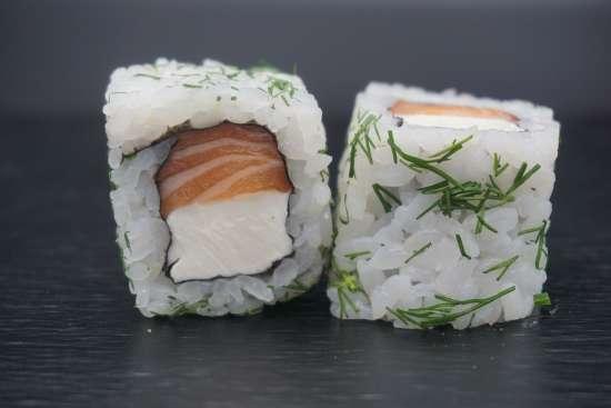 california rolls saumon cheese