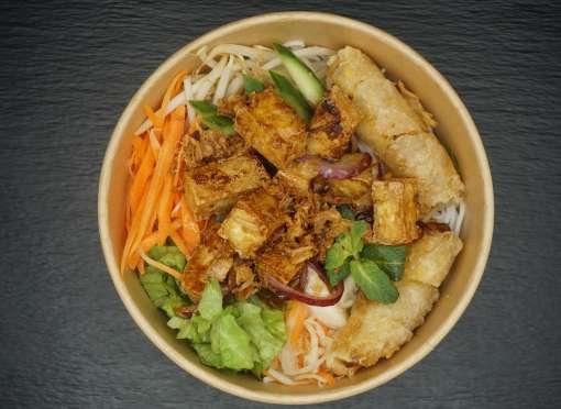 Bo Bun vegan (tofu + nem aux légumes)