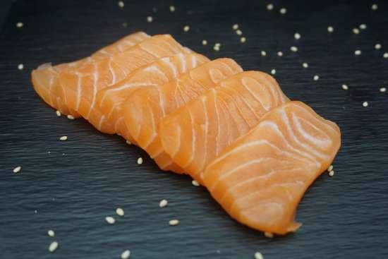 Sashimi saumon 12pièces