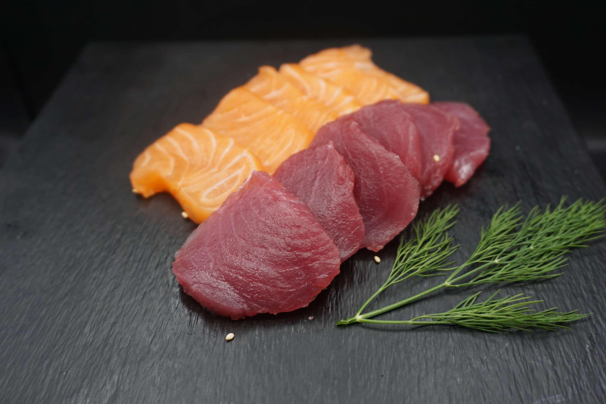 Sashimi mix saumon thon
